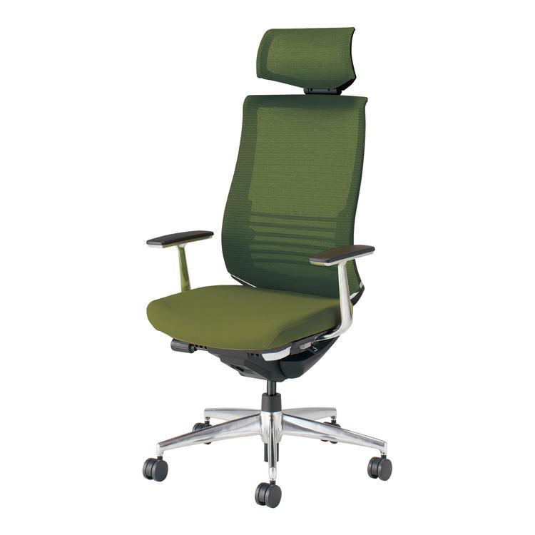 コクヨ オフィスチェア ベゼル CR-A2865E6GMQ5-W ヘッドレスト アルミ肘 カーペット用 配送・組立・設置込 代引不可
