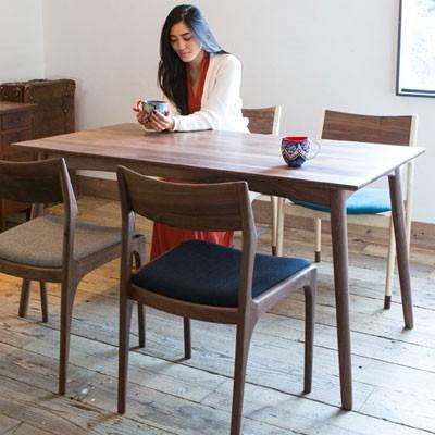 ノードダイニングテーブル Mサイズ 140cm ウォルナット 無垢材 代引不可