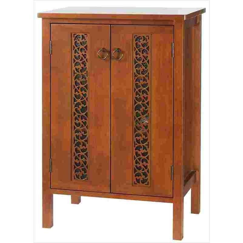 キャビネット OW-560 チェスト 収納棚 ラック シェルフ シェルフ リビング収納 両開き戸 棚板2枚 木製 おしゃれ かわいい 上品 代引不可
