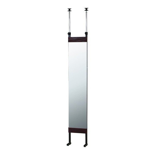 突っ張りミラー 幅30cm 全身鏡 全身鏡 鏡 ミラー 姿見 かがみ 壁掛け 飛散防止 間仕切り 目隠し パーテーション 壁面 デッドスペース 代引不可