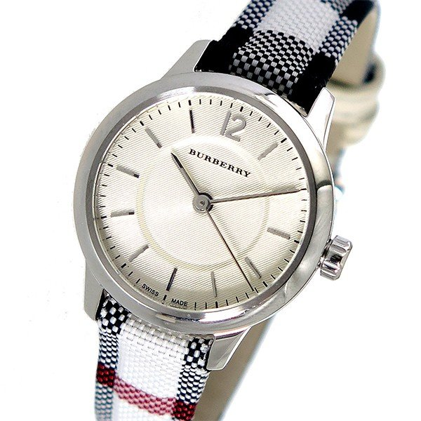 【送料無料キャンペーン?】 バーバリー BURBERRY ザ クラシックラウンド クオーツ レディース 腕時計 BU10200 アイボリー, アブタチョウ a61ee560