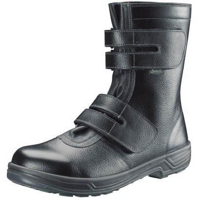 シモン 安全靴 長編上靴マジック式 SS38黒 25.5cm SS38-25.5 安全靴・作業靴・安全靴