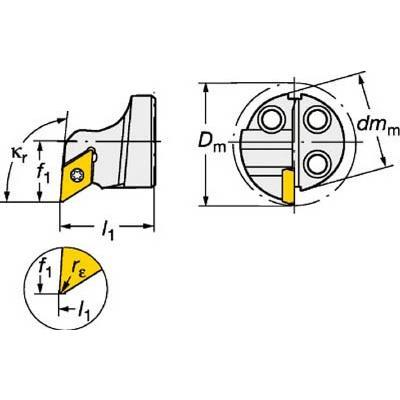 サンドビック コロターンSL コロターン111用カッティングヘッド 570-SDUPL-20-07 旋削・フライス加工工具・ホルダー