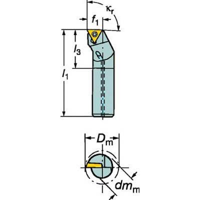 サンドビック コロターン111 ポジチップ用ボーリングバイト A25T-STFPR 16 旋削・フライス加工工具・ホルダー