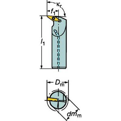 サンドビック コロターン107 ポジチップ用ボーリングバイト A20S-SVUBL 11-E 旋削・フライス加工工具・ホルダー