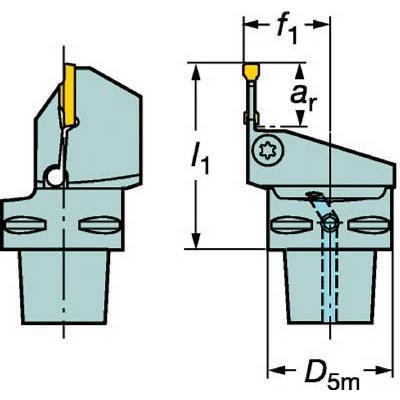 サンドビック コロマントキャプト コロカット1・2用カッティングユニット C3-LF123G10-22050B