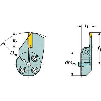 サンドビック コロターンSL コロカット1・2用端面溝入れブレード 570-32R123G18B130B 旋削・フライス加工工具・ホルダー