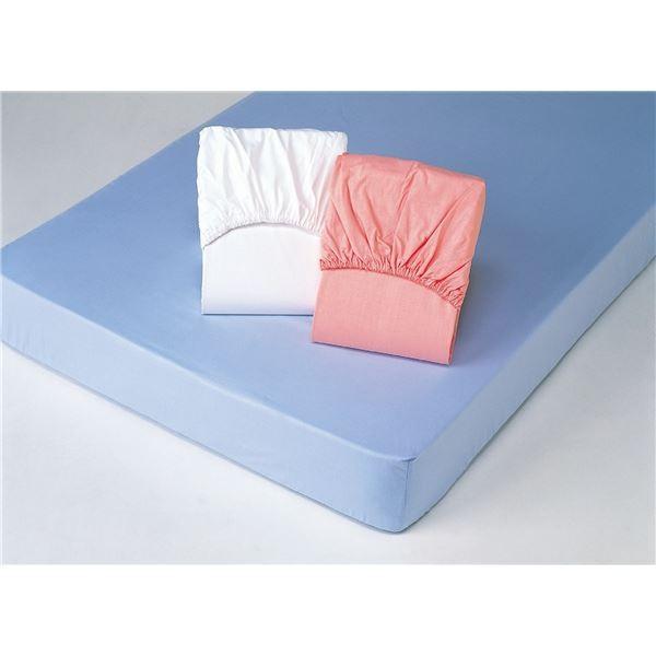 平織ボックスシーツ 〔クイーンサイズ〕 (同色2枚組み/ブルー(青)) 綿100%〔代引不可〕