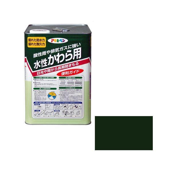 アサヒペン AP 水性かわら用 14L アイリッシュグリーン