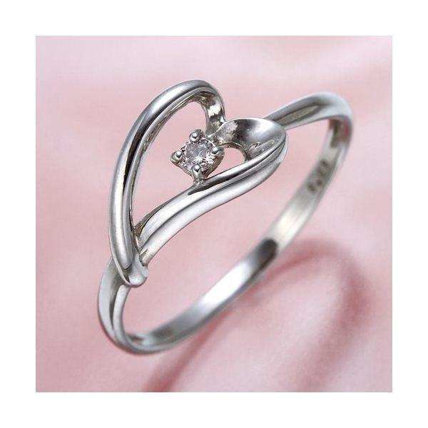 【在庫処分】 ピンクダイヤリング 指輪 ハーフハートリング 15号, 老犬と介護のショップ わんケア 2afde15d