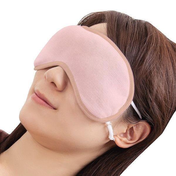 潤いシルクのふんわりアイマスク ポーチ付き ピンク|rcmdhl