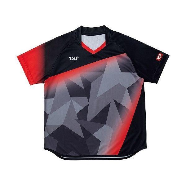 TSP 卓球アパレル ゲームシャツ レディスアステルシャツ 女子用 032417 カラー ブラック サイズ 2XS