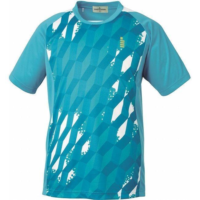 GOSEN ゴーセン ゲームシャツ T1514 カラー エメラルドブルー サイズ LL
