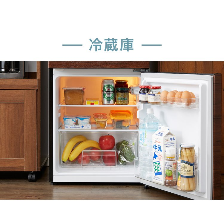 冷蔵庫 simplus シンプラス 2ドア冷蔵庫 90L SP-90L2-WD ダークウッド 冷凍庫 2ドア 省エネ 左右 両開き 1人暮らし 代引不可 rcmdin 07