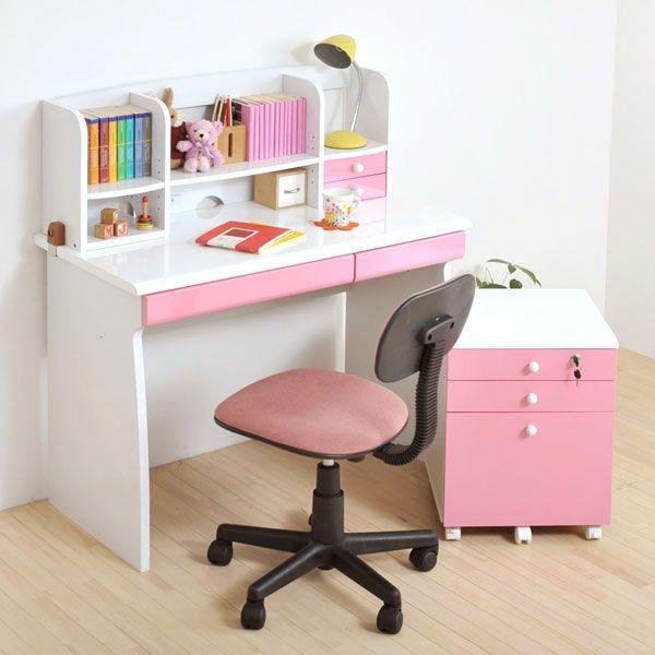 鏡面ジュニアデスクシリーズ デスク4点セット(チェアカラー:ピンク)(fb-013set) デスク4点セット(チェアカラー:ピンク)(fb-013set) デスク4点セット(チェアカラー:ピンク)(fb-013set) 学習机 机 チェスト 椅子 セット家具 b1a