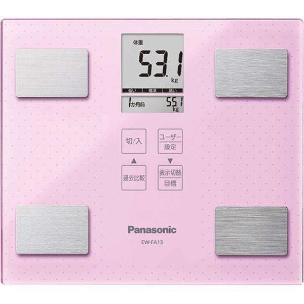 売上実績NO.1 Panasonic C7211534 体組成計 ライトピンク EW-FA13-M-健康管理、計測計