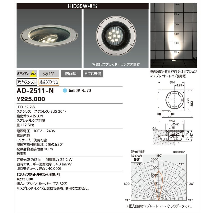 YAMADA 山田照明 エクステリア AD-2511-N