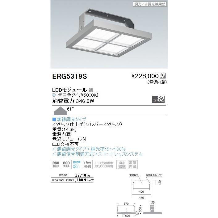 ENDO 遠藤照明 高天井用ベースライト ERG5319S
