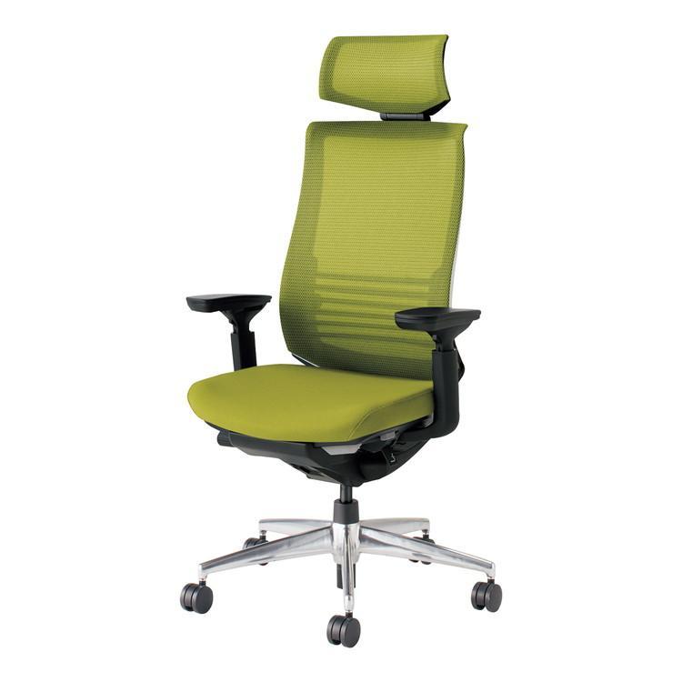 コクヨ オフィスチェア ベゼル CR-A2835E6GMQ3-W ヘッドレスト付 可動肘 カーペット用 配送・組立・設置込 代引不可