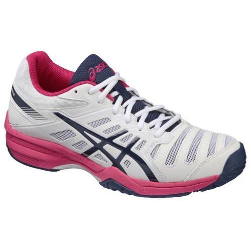 アシックス テニス LADY GEL-SOLUTION SLAM 3 OC レディゲルソリューションスラム TLL775 ホワイト×ネイビー 0150