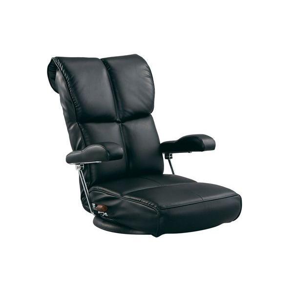 スーパー ソフトレザー座椅子 ソフトレザー座椅子 (響) YS-1367HR-BK ブラック (代引き不可)