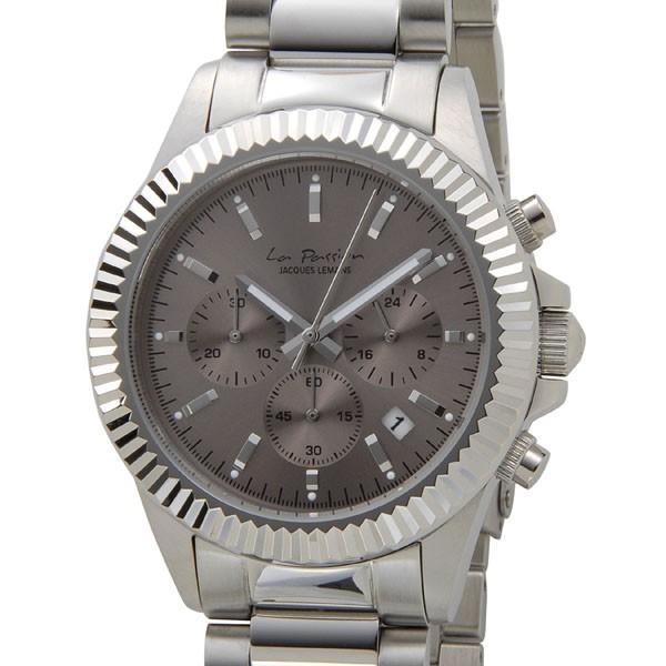 品質満点! ジャックルマン ラ・パッション 42mm クオーツ レディース 腕時計 LP-111F グレーブラック/シルバー, Little Rain b1e2d57e