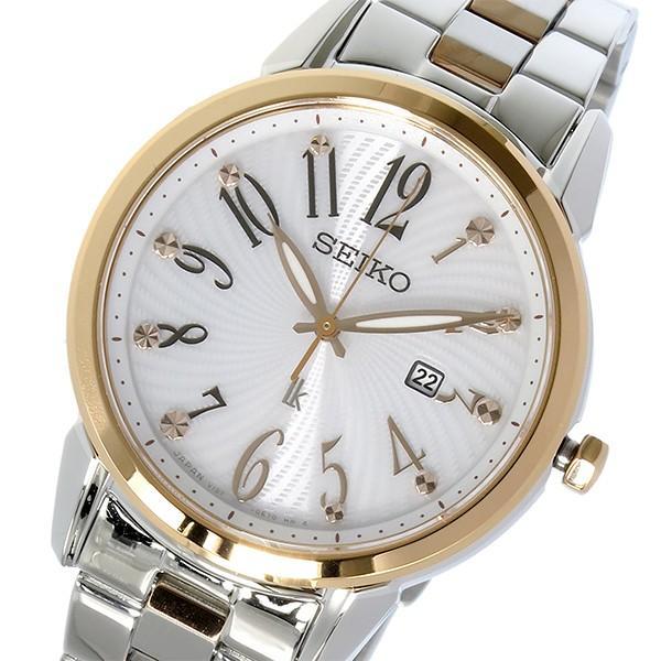 【返品送料無料】 セイコー SEIKO ルキア LUKIA ソーラー クオーツ レディース 腕時計 SUT298J1 ホワイト, パレットプラス 3bfcd282