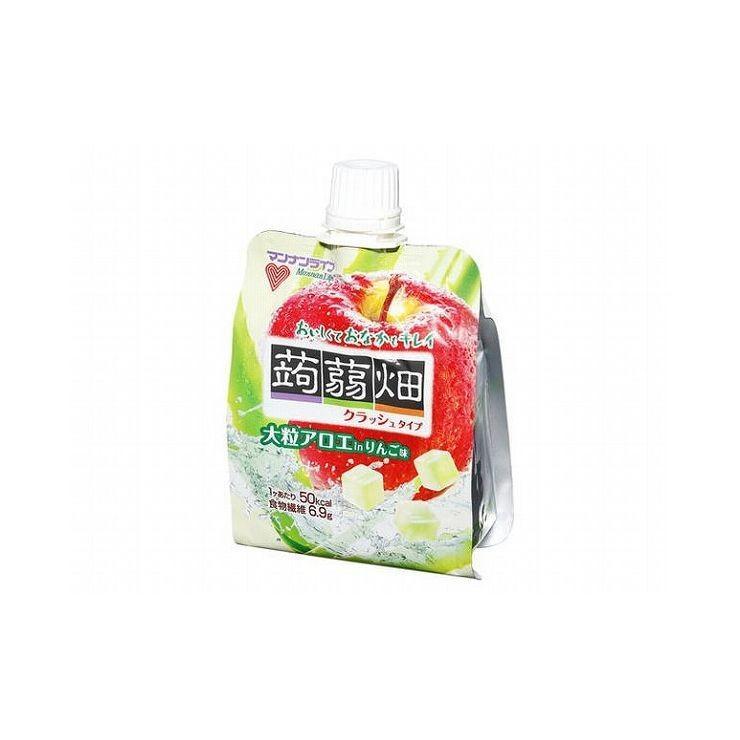 まとめ買い マンナン 大粒アロエin蒟蒻畑 リンゴ味 150g x6個セット まとめ セット セット買い 業務用 代引不可|rcmdse
