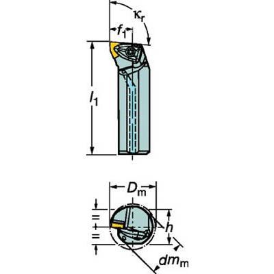 サンドビック コロターンRC ネガチップ用ボーリングバイト A32T-DWLNL 08 旋削・フライス加工工具・ホルダー 旋削・フライス加工工具・ホルダー 旋削・フライス加工工具・ホルダー a4e