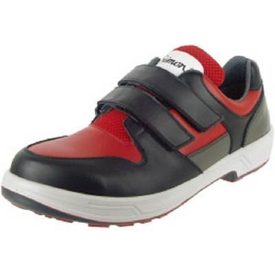 シモン トリセオシリーズ 短靴 赤/黒 24.5cm 8518赤/BK-24.5 安全靴・作業靴・安全靴