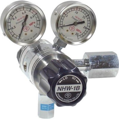 分析機用フィン付二段圧力調整器 NHW−1B NHW1BTRCCH4 溶接用品・ガス調整器 代引不可