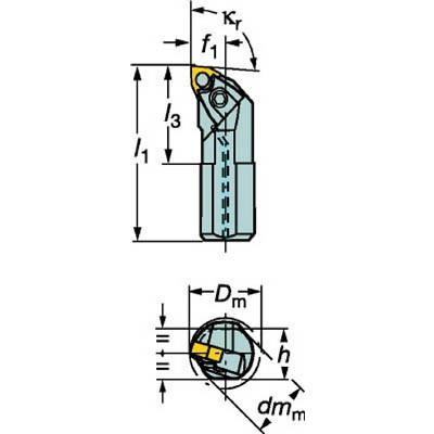 サンドビック T−Max P ネガチップ用ボーリングバイト A40V-MWLNL 08 旋削・フライス加工工具・ホルダー