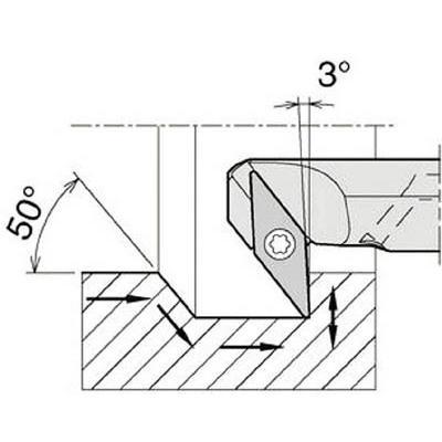 京セラ 内径加工用ホルダ A16Q-SVZBR11-20AE 旋削・フライス加工工具・ホルダー