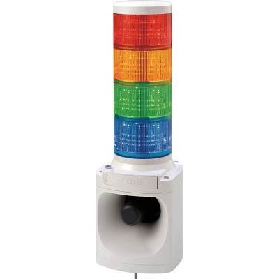 パトライト LED積層信号灯付キ電子音報知器 LKEH402FARYGB