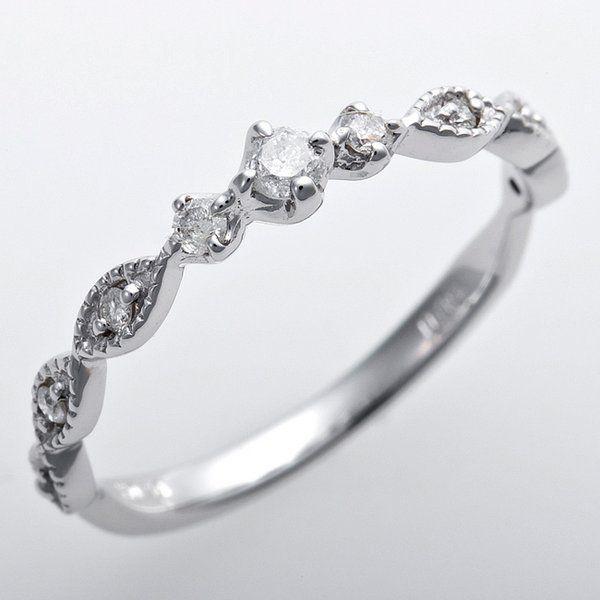 人気カラーの ダイヤモンド ピンキーリング ダイヤモンド K10ホワイトゴールド プリンセス 3号 ダイヤ0.09ct アンティーク調 アンティーク調 プリンセス, にっぽん津々浦々:a9f5f489 --- taxreliefcentral.com