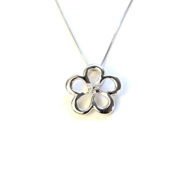 【超ポイントバック祭】 ダイヤモンド サクラ ホワイトゴールド ネックレス ペンダント, ALPHA Market d7033859