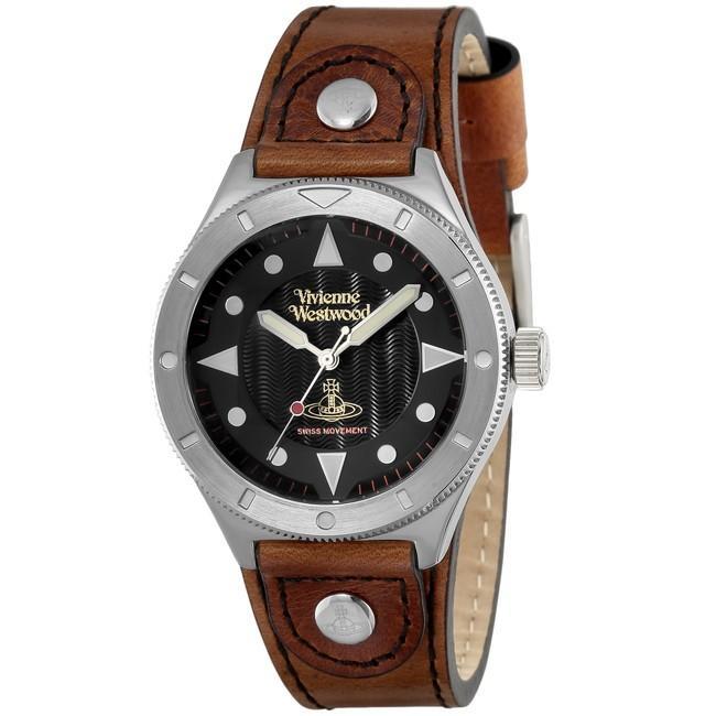 [宅送] VivienneWestwood ヴィヴィアン・ウエストウッド VV160BKBR ブランド 時計 腕時計 ユニセックス 誕生日 プレゼント ギフト カップル, アトランティス 318698a8