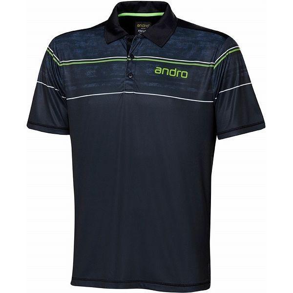 andro アンドロ 卓球ゲームシャツ ANDRO CARTER アンドロ カーター マットブラック 302117 サイズ S