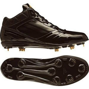 adidas(アディダス) g56053 アディゼロ フィックスメタル mid ブラック×ブラック×メタリックゴールド 255