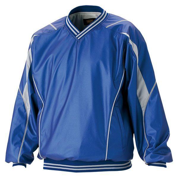 ZETT(ゼット) 野球 長袖Vネックジャンパー BOV410 2300 ブルー XO