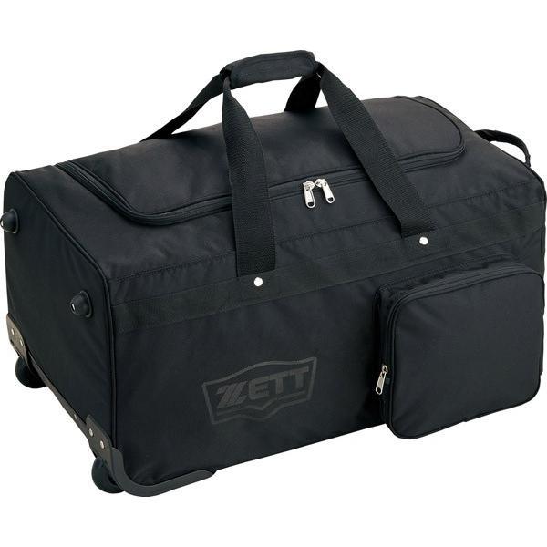 ZETT ゼット キャスター付き遠征バッグ兼防具ケース ブラック BA760 カラー ブラック