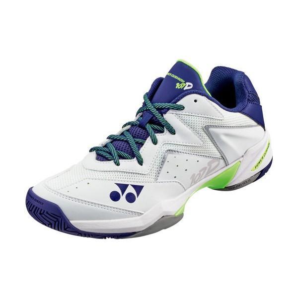 YONEX テニスシューズ パワークッション107D クレー/砂入り人工芝コート用 カラー ホワイト×ネイビー サイズ 24