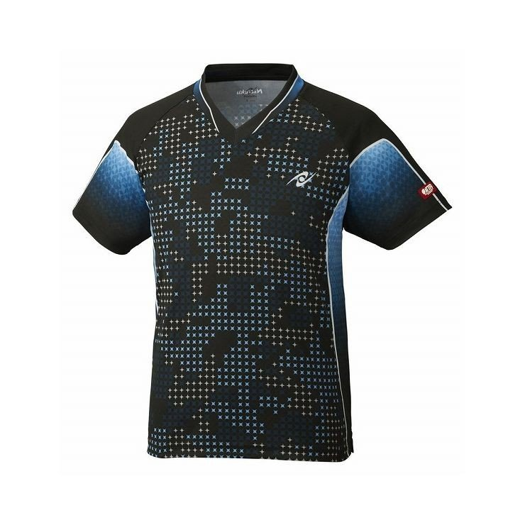 ニッタク Nittaku 卓球アパレルSKYMILKYSHIRT スカイミルキーシャツ 男女兼用/Jr.サイズ対応 NW2189 カラー ブラック サイズ S