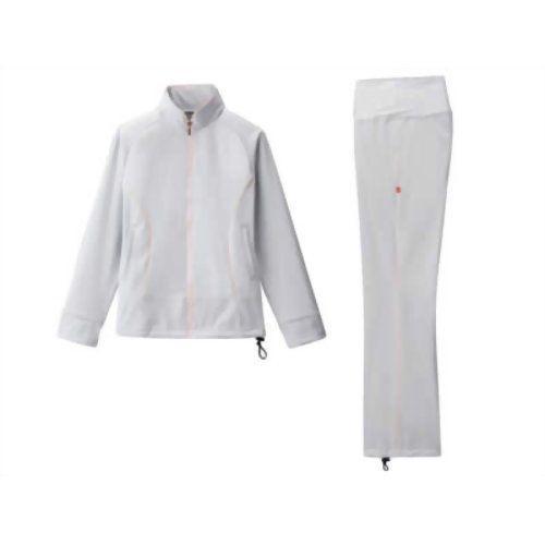 30up DIET シェイプスーツキューブ女性用(長袖上下) グレー×ピンク3L 代引不可