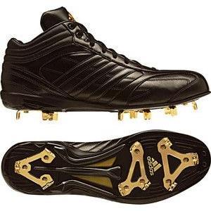 adidas(アディダス) G59346 アディピュア メタル MID ブラック×ブラック×メタリックゴールド 255