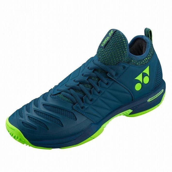 Yonex サイズ 24.5 テニスシューズ POWER CUSHION FUSIONREV3 MEN AC SHTF3MAC カラー ネイビーブルー