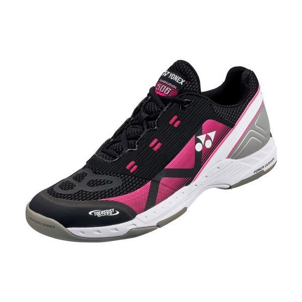 YONEX テニスシューズ POWER CUSHION 506 パワークッション506 カーペットコート用 カラー ブラック×ピンク サイズ 22.5