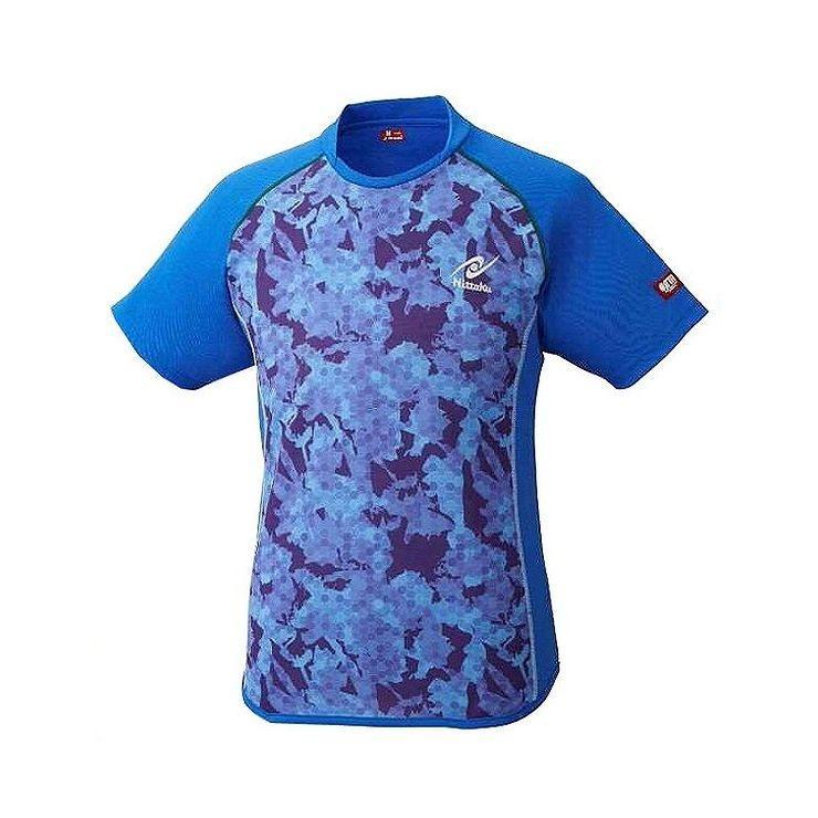ニッタク Nittaku 卓球アパレルFLAGESHIRT フラージュシャツ 男女兼用 NW2187 カラー ブルー サイズ L