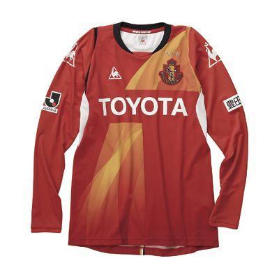 ルコック lecoq 名古屋グランパス オーセンティック長袖ゲームシャツ QH84114GR 赤