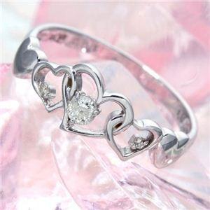 素晴らしい価格 ハート透かし合計0.08ctダイヤリング 指輪 17号, 津島市 b0d4f9c9
